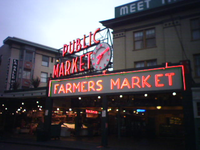 Bright and early at Pike Place Market