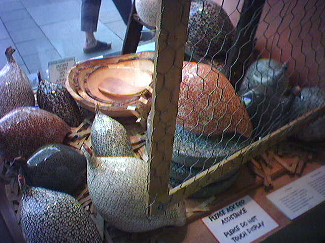 La Pintade ceramic guinea hens
