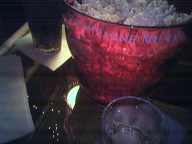 Pinot Grigio and popcorn at The Big Picture