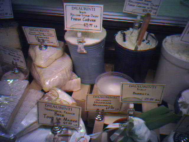 SHF Cheese shopping at DeLaurenti