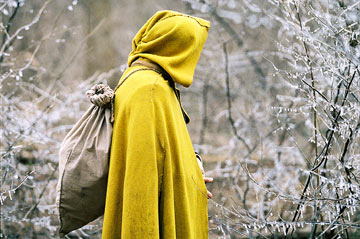 a_cloaked_figure_stalks_the_woods_in_touchstone_pictures_the_village_2004_photo_copyright_touchstone_pictures